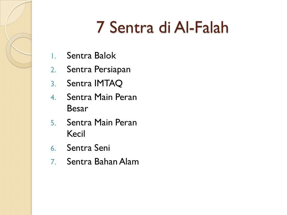 7 Sentra di Al-Falah Sentra Balok Sentra Persiapan Sentra IMTAQ