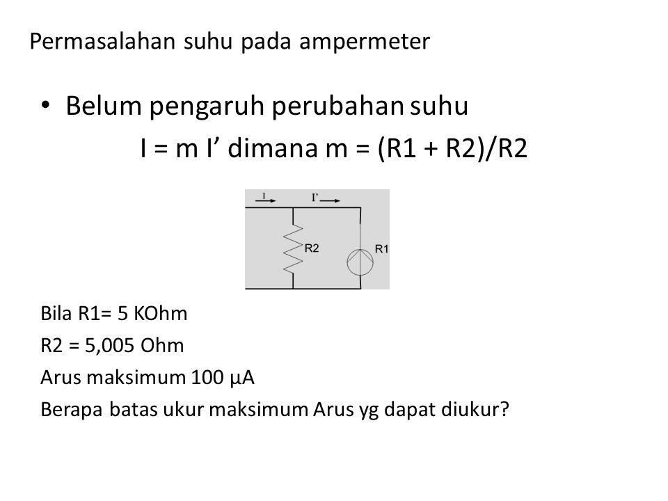 Permasalahan suhu pada ampermeter