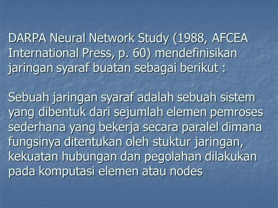 DARPA Neural Network Study (1988, AFCEA International Press, p