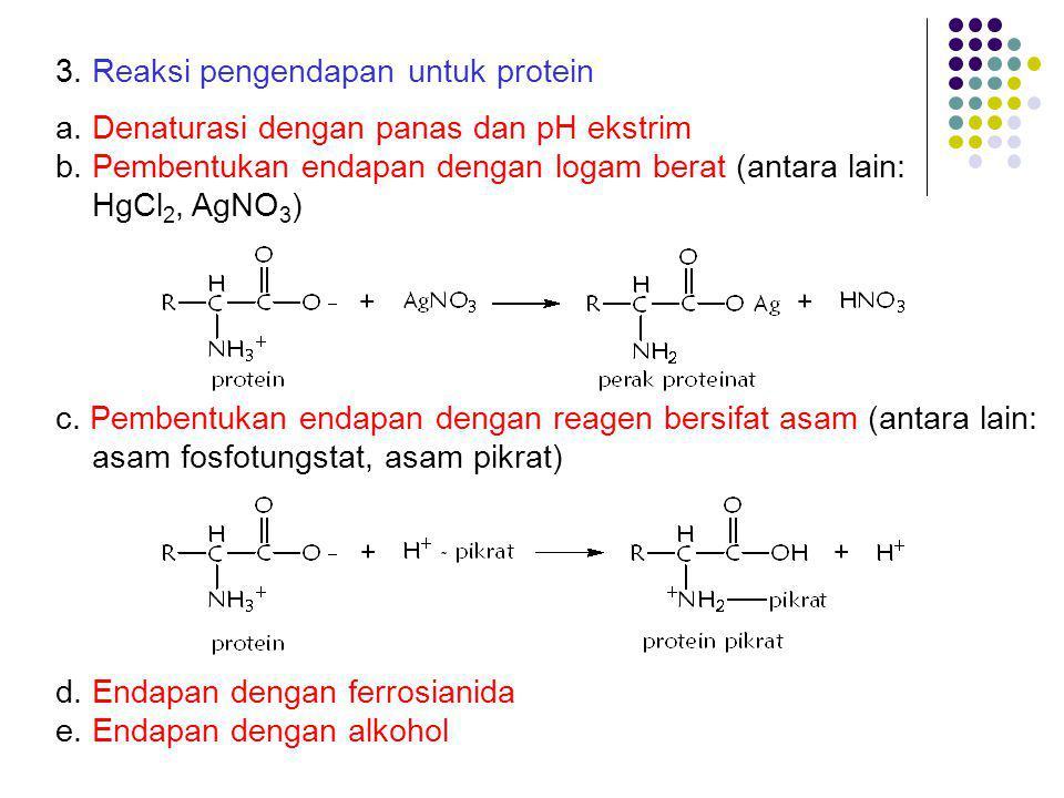 3. Reaksi pengendapan untuk protein