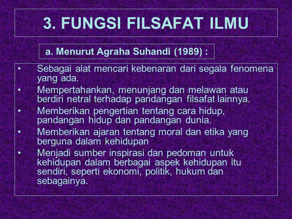 a. Menurut Agraha Suhandi (1989) :