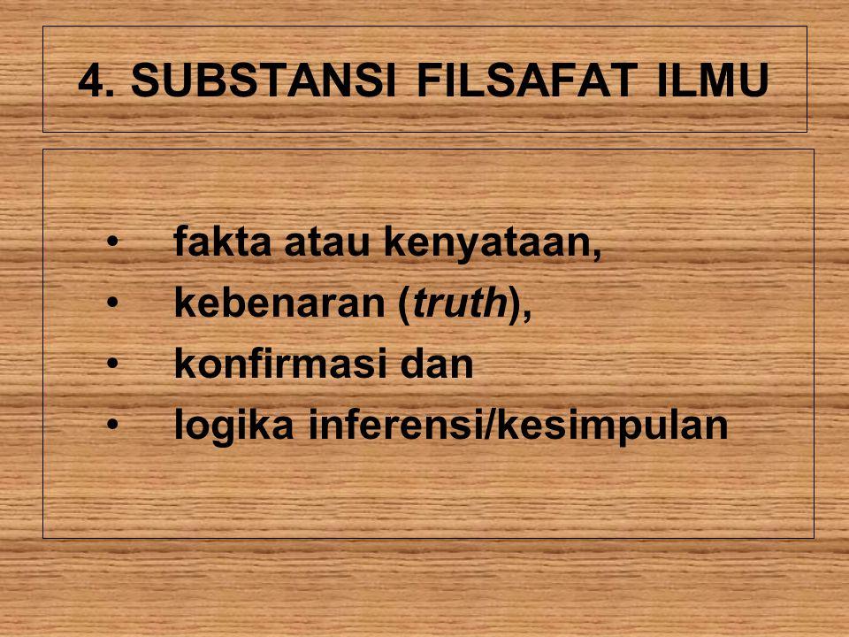 4. SUBSTANSI FILSAFAT ILMU