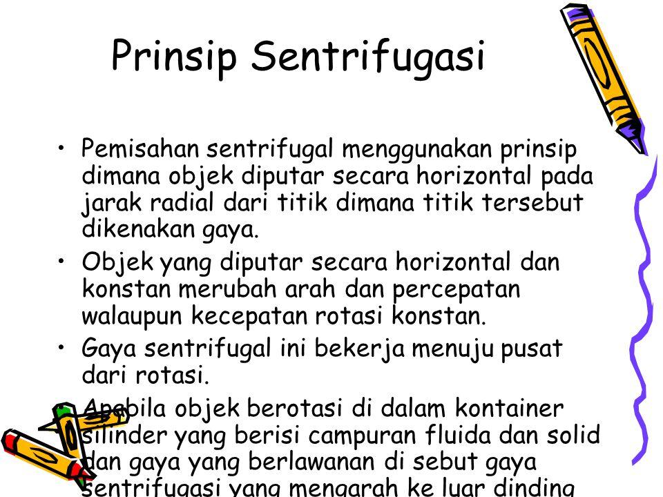 Prinsip Sentrifugasi
