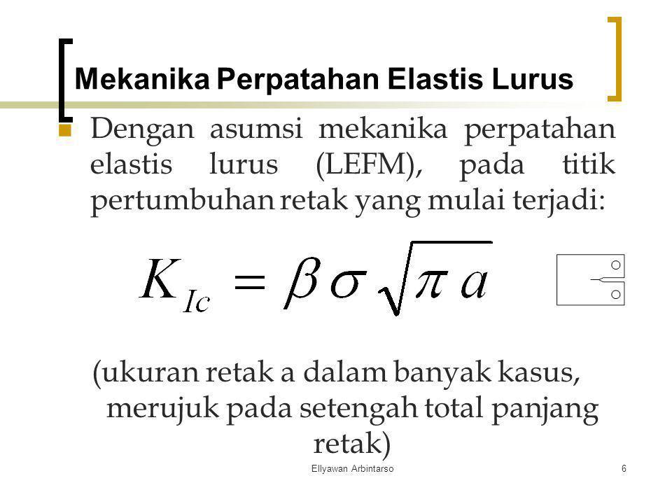 Mekanika Perpatahan Elastis Lurus