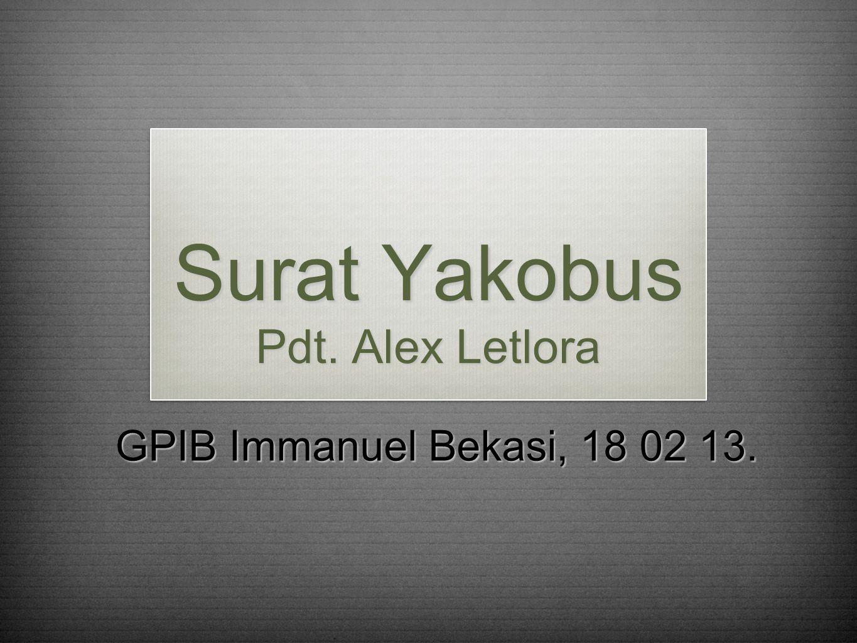 Surat Yakobus Pdt. Alex Letlora