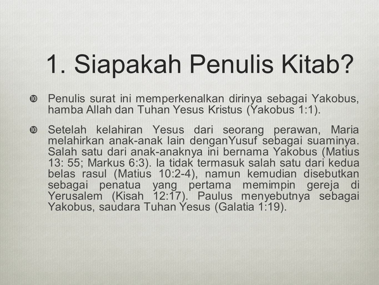 1. Siapakah Penulis Kitab