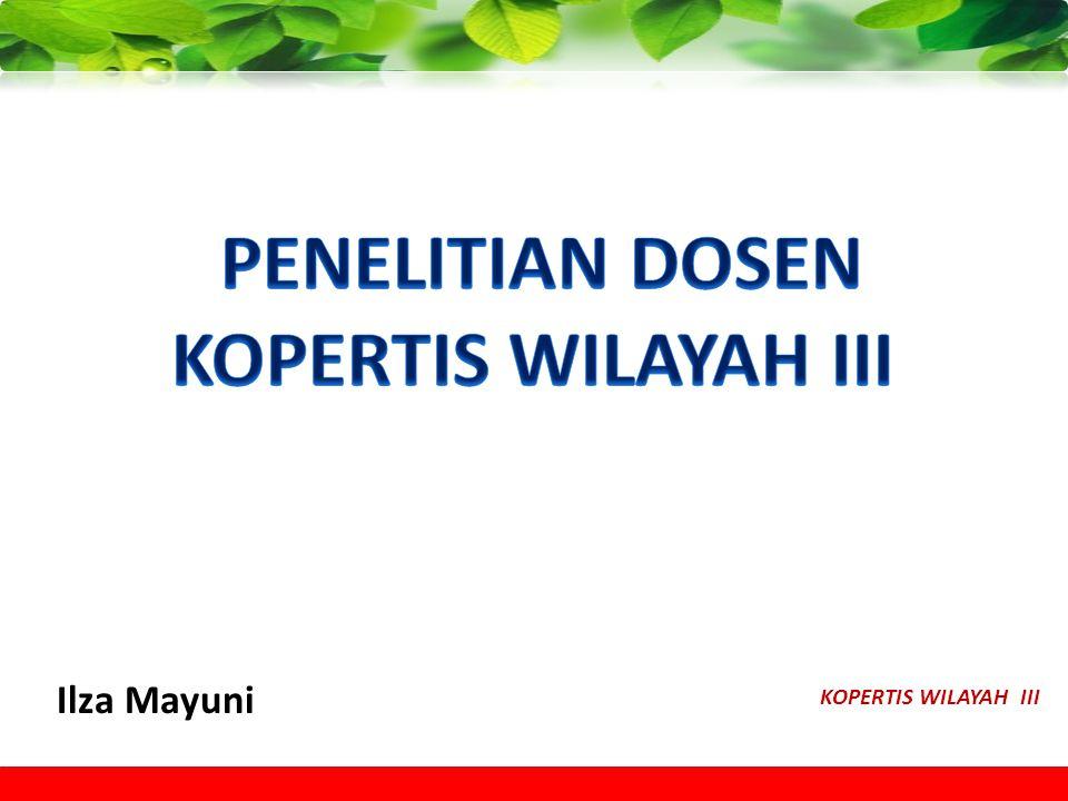 PENELITIAN DOSEN KOPERTIS WILAYAH III