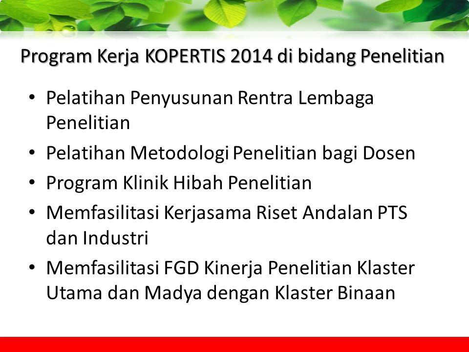 Program Kerja KOPERTIS 2014 di bidang Penelitian