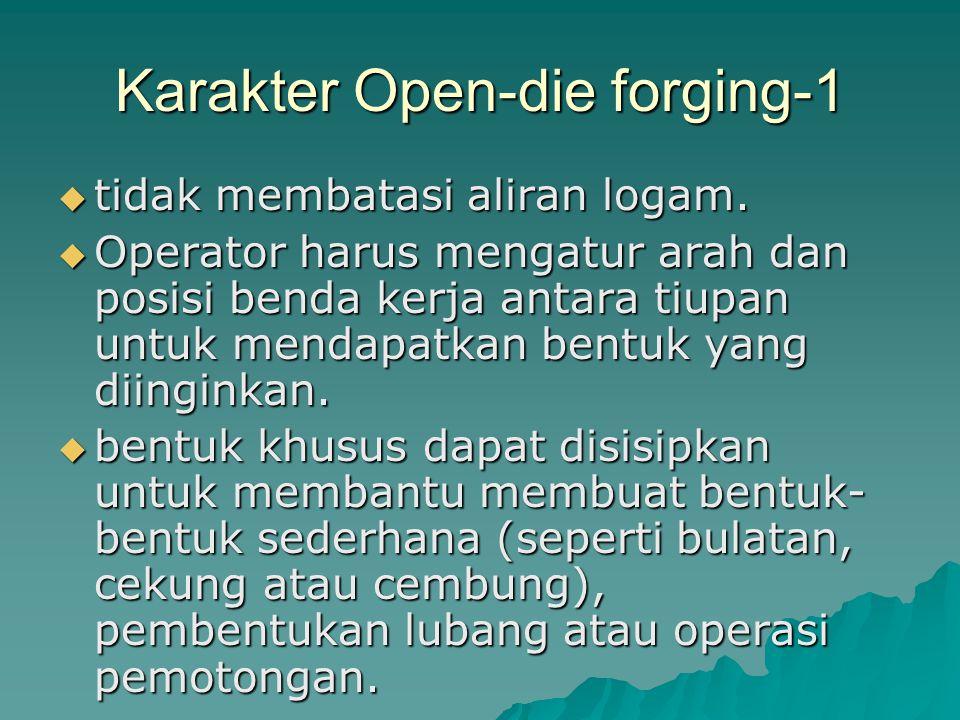 Karakter Open-die forging-1
