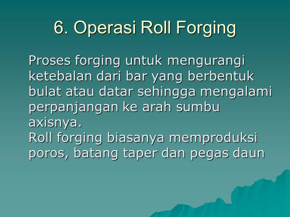 6. Operasi Roll Forging