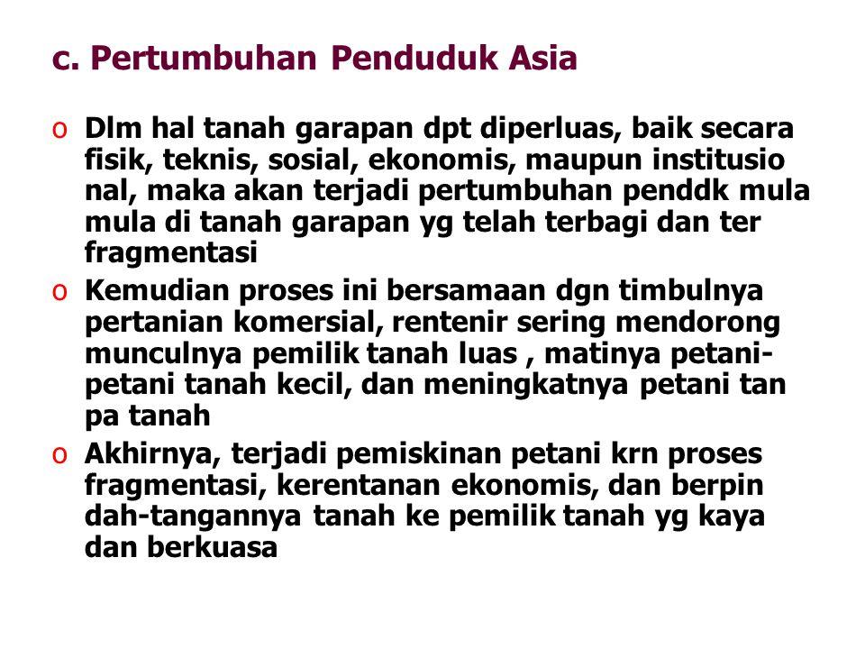 c. Pertumbuhan Penduduk Asia