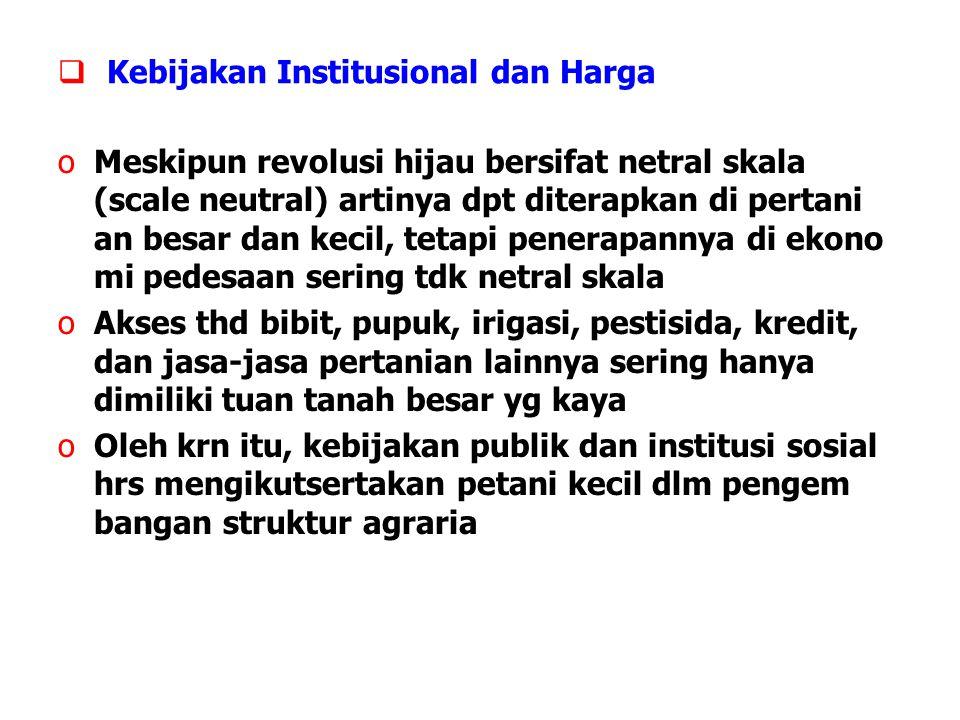 Kebijakan Institusional dan Harga