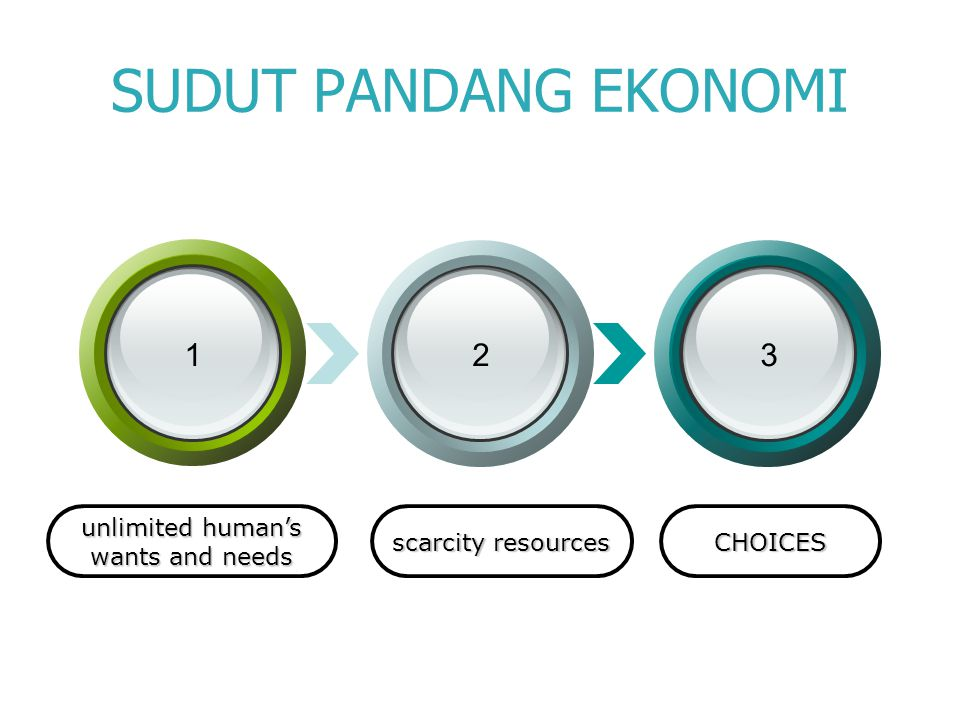 SUDUT PANDANG EKONOMI 1 2 3 unlimited human's wants and needs