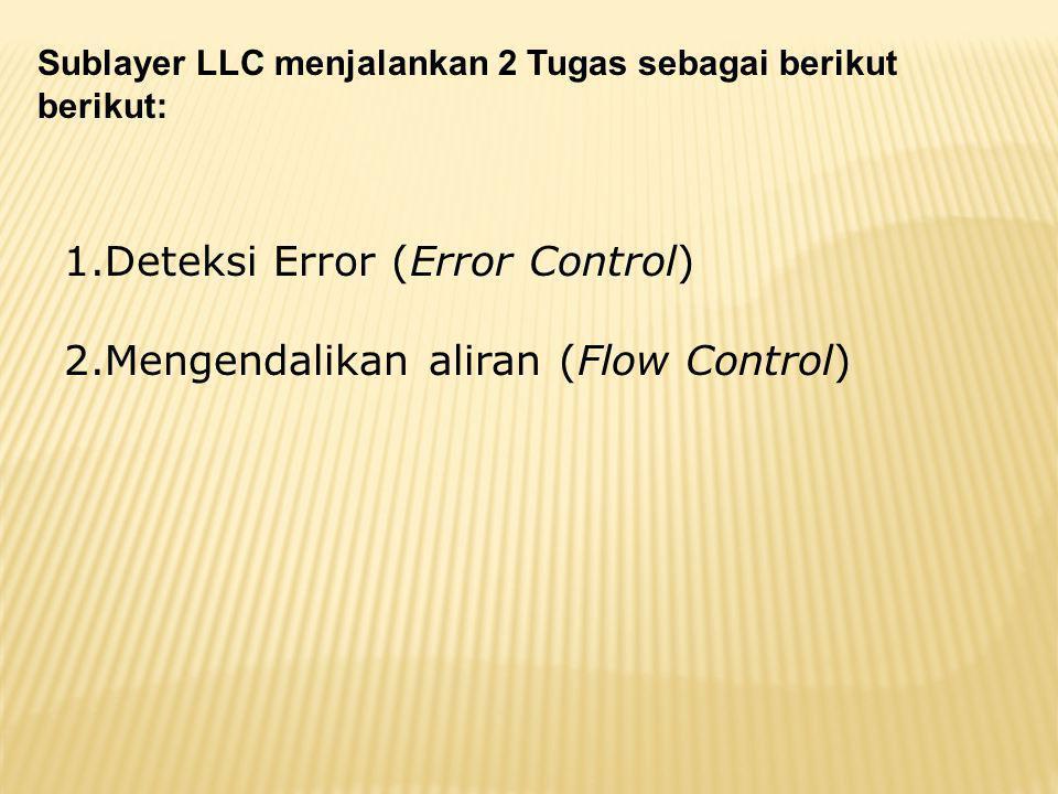Deteksi Error (Error Control) Mengendalikan aliran (Flow Control)