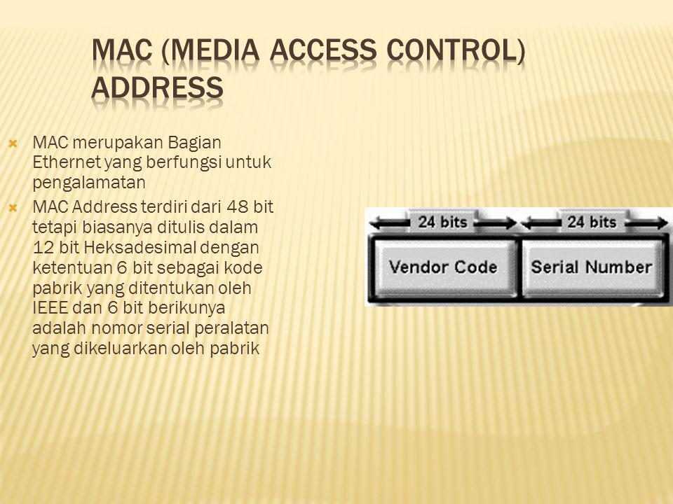 MAC (Media Access Control) Address