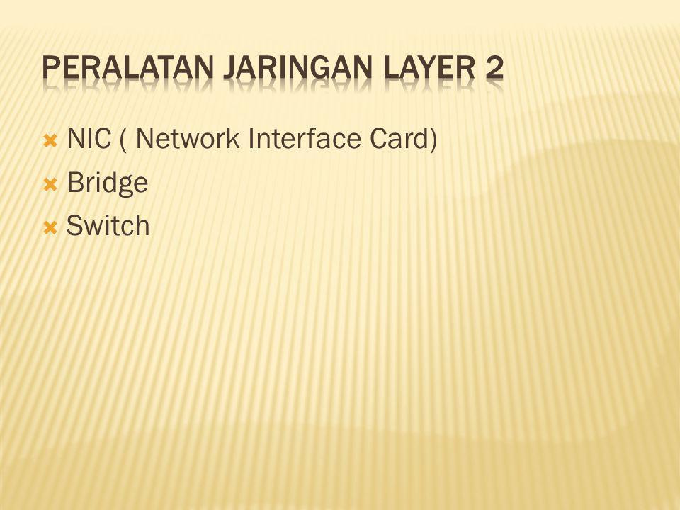 Peralatan Jaringan Layer 2