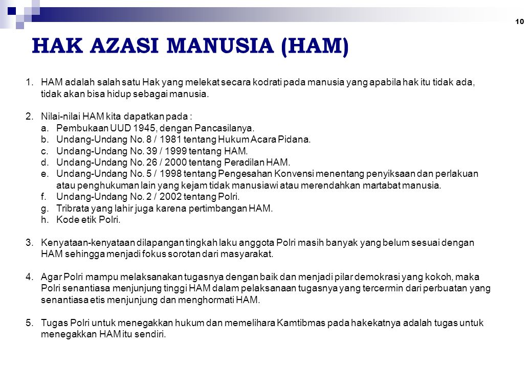 HAK AZASI MANUSIA (HAM)