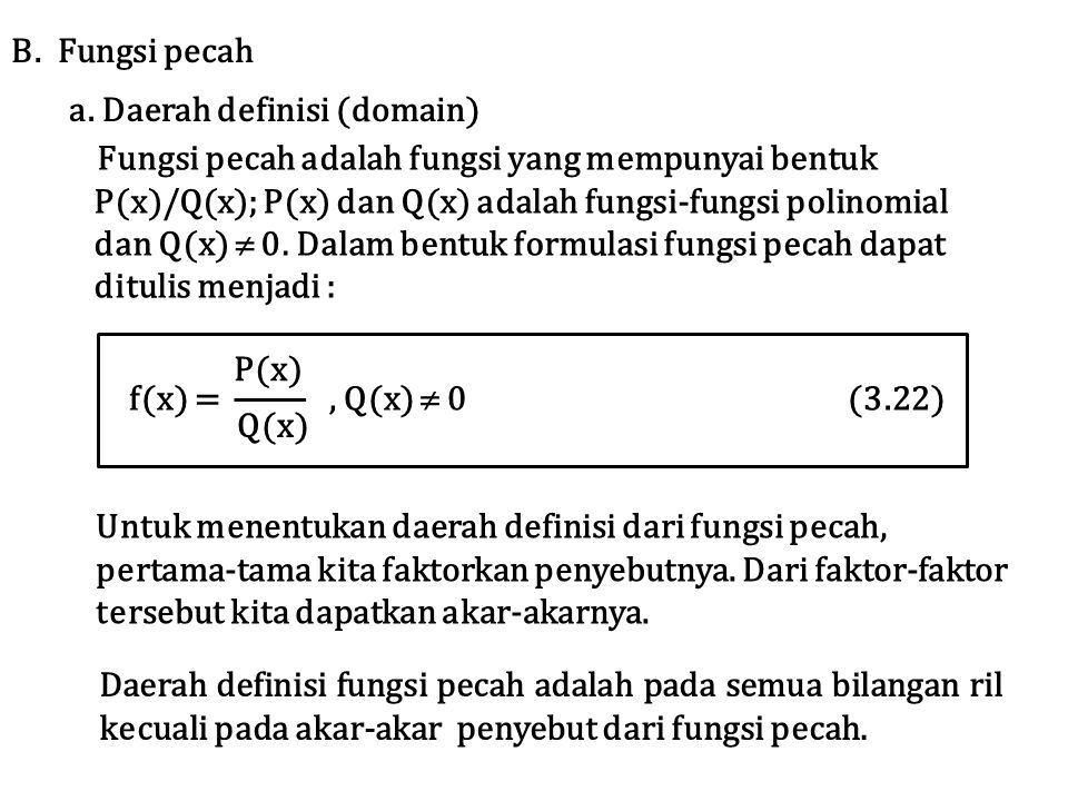 a. Daerah definisi (domain)