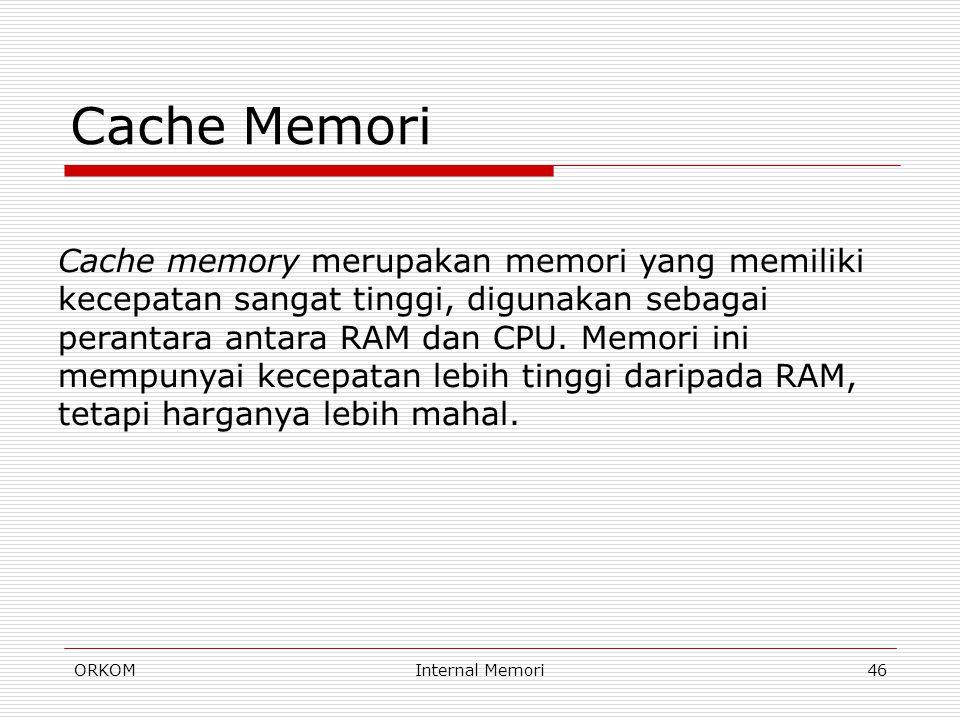 Cache Memori