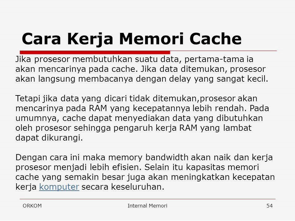 Cara Kerja Memori Cache