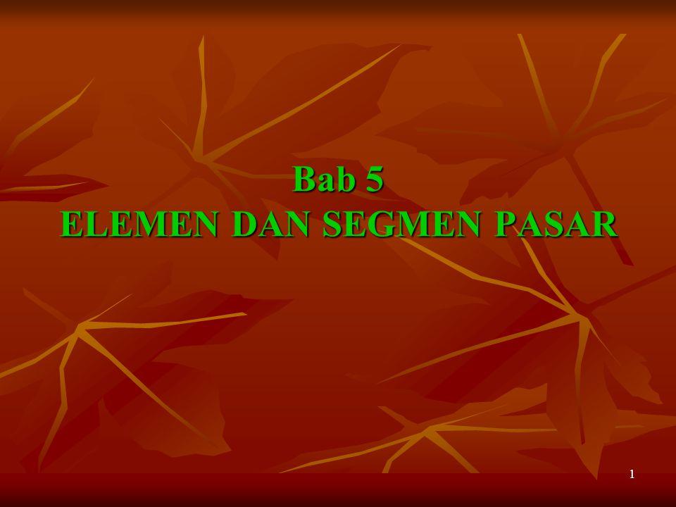 Bab 5 ELEMEN DAN SEGMEN PASAR