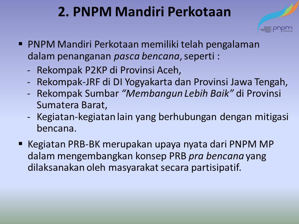 2. PNPM Mandiri Perkotaan