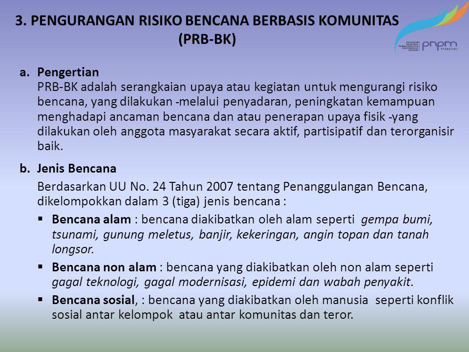 3. PENGURANGAN RISIKO BENCANA BERBASIS KOMUNITAS