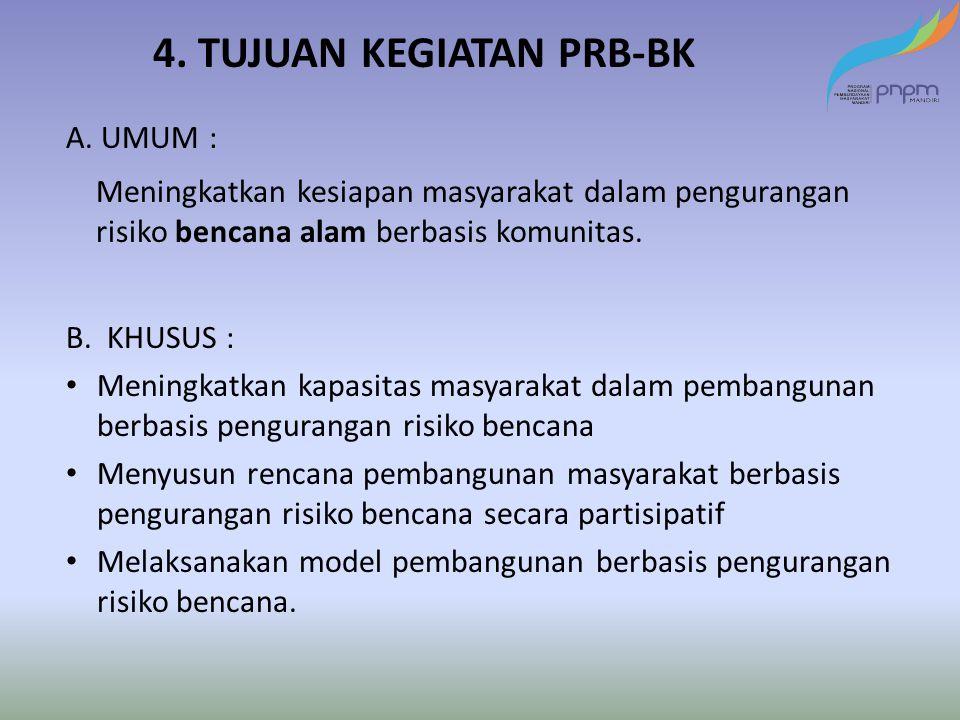 4. TUJUAN KEGIATAN PRB-BK