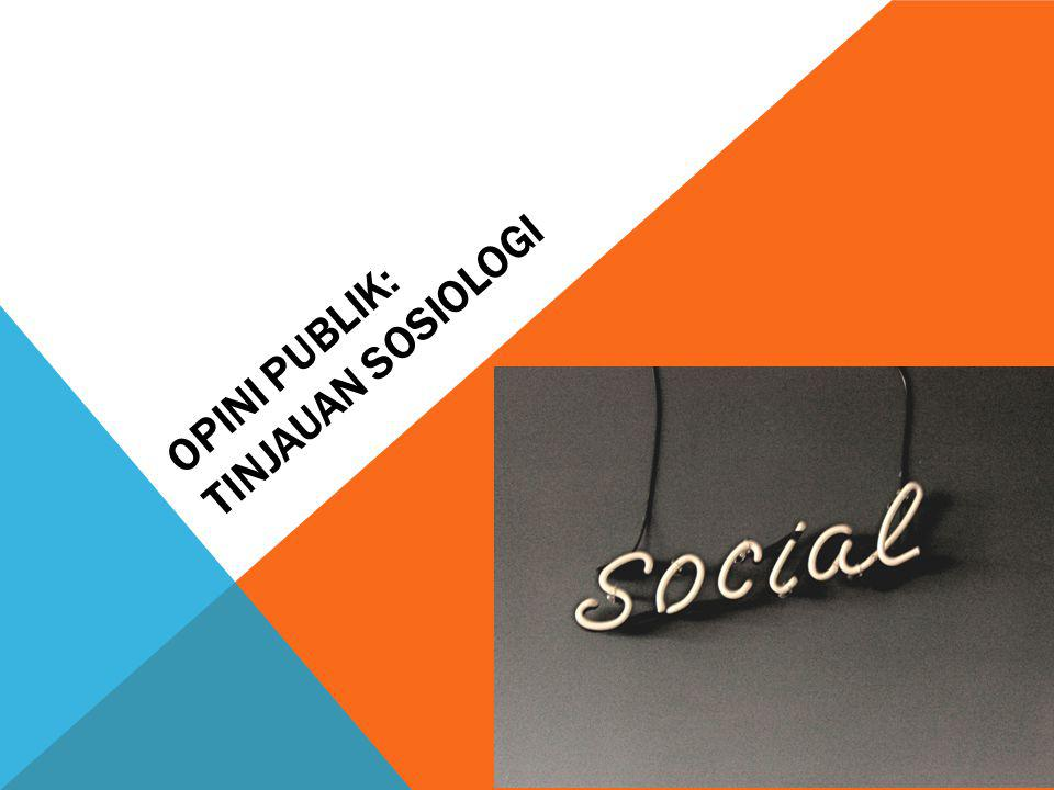 Opini Publik: Tinjauan Sosiologi