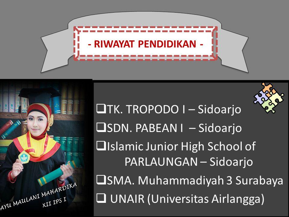 Islamic Junior High School of PARLAUNGAN – Sidoarjo