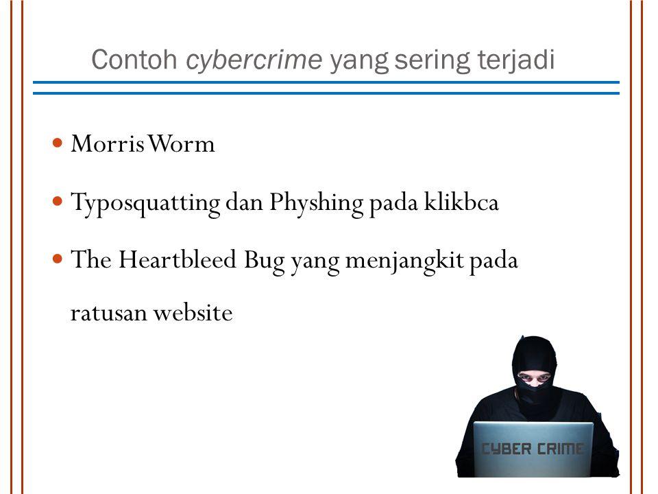 Contoh cybercrime yang sering terjadi
