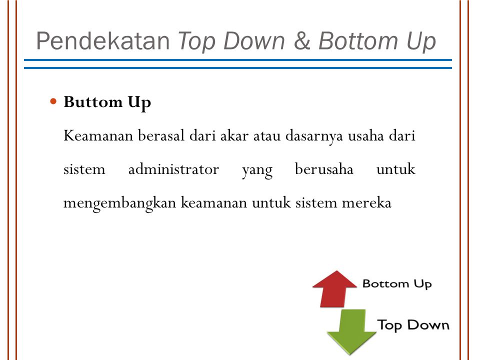 Pendekatan Top Down & Bottom Up