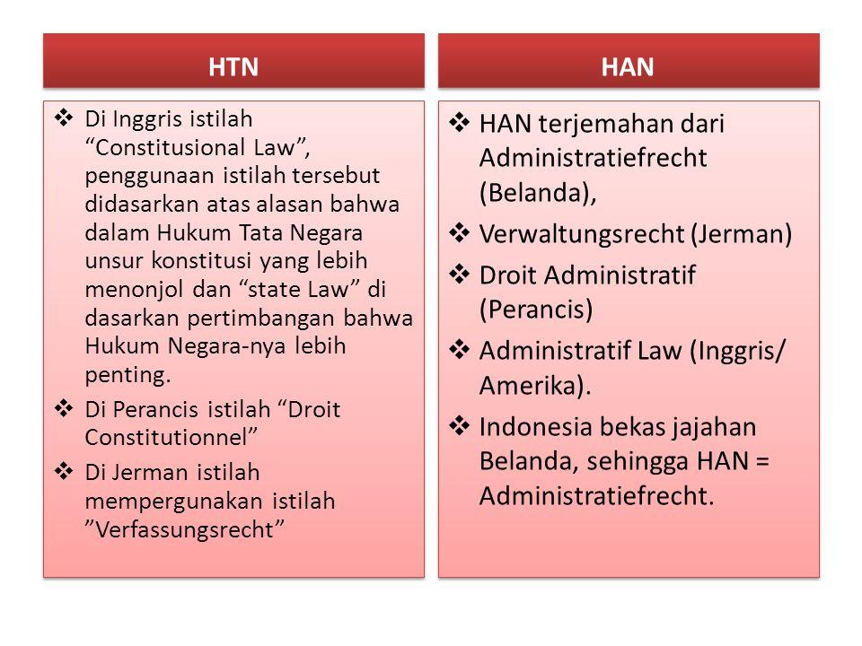 HAN terjemahan dari Administratiefrecht (Belanda),