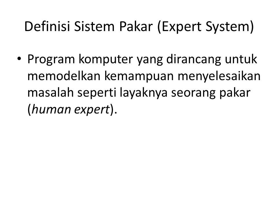 Definisi Sistem Pakar (Expert System)