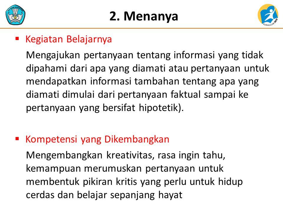 2. Menanya Kegiatan Belajarnya