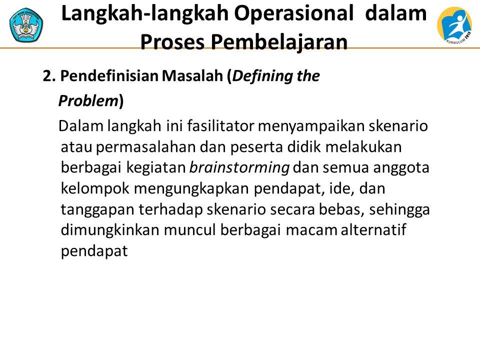 Langkah-langkah Operasional dalam Proses Pembelajaran