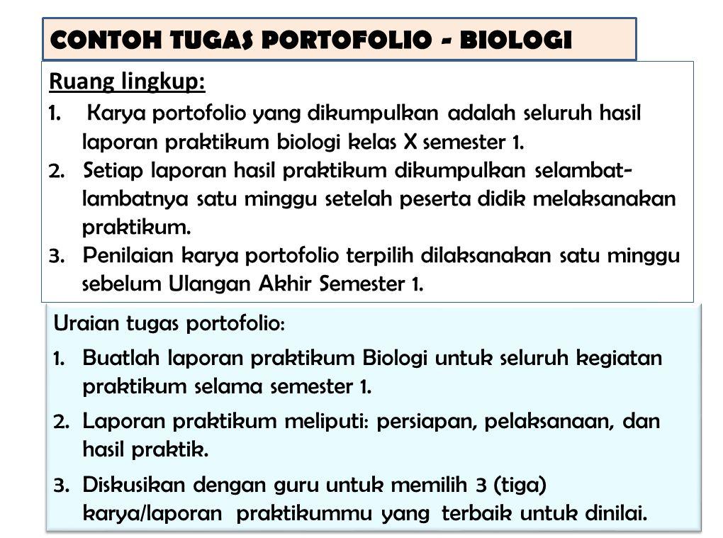 CONTOH TUGAS PORTOFOLIO - BIOLOGI