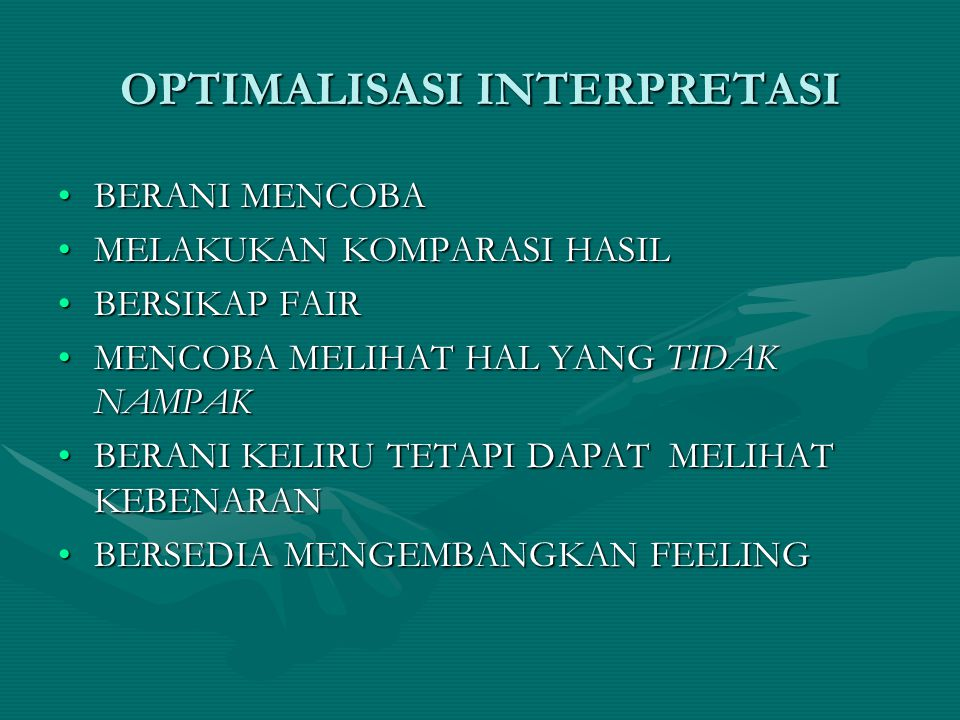 OPTIMALISASI INTERPRETASI