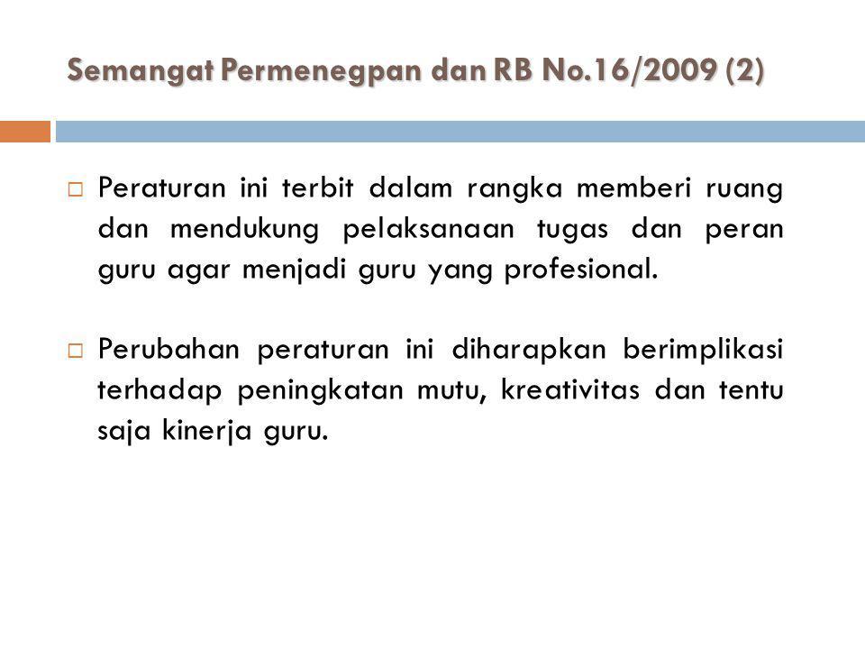 Semangat Permenegpan dan RB No.16/2009 (2)