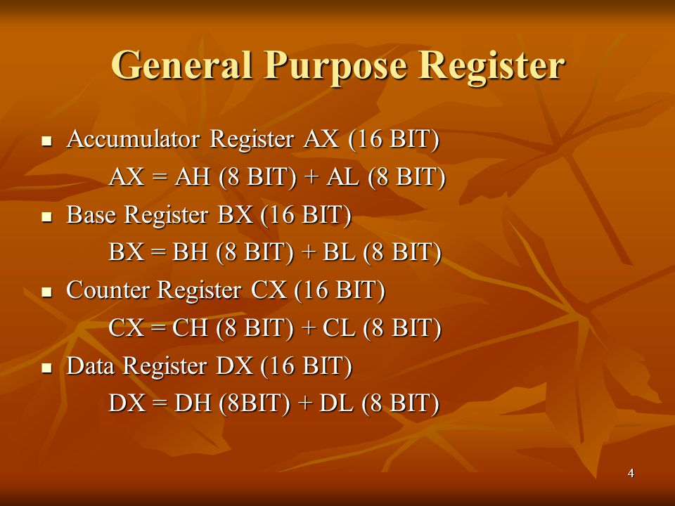 General Purpose Register