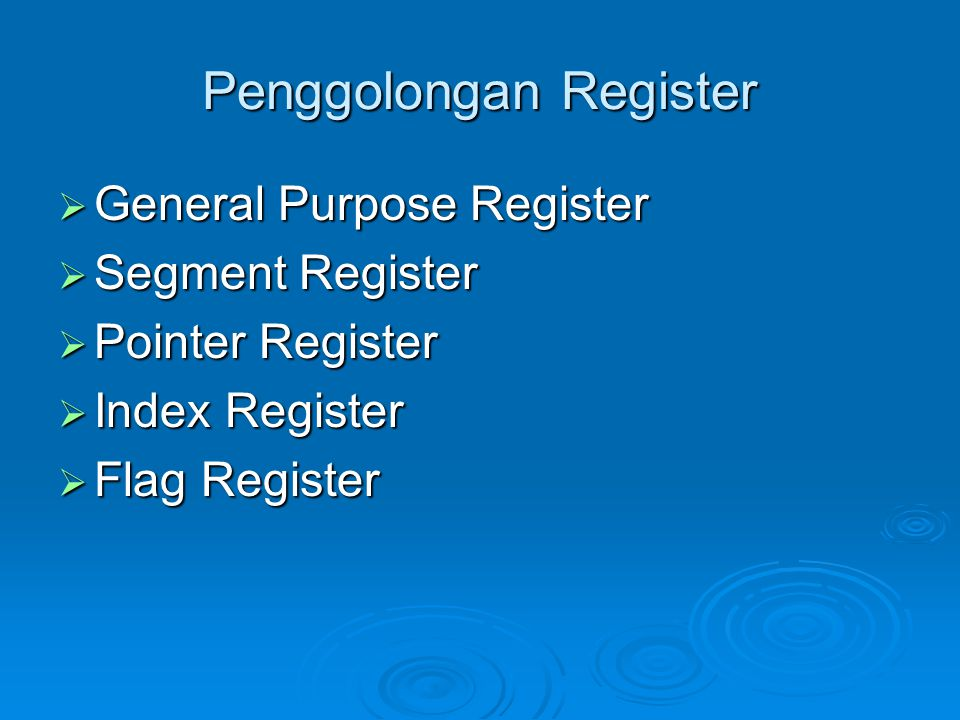Penggolongan Register