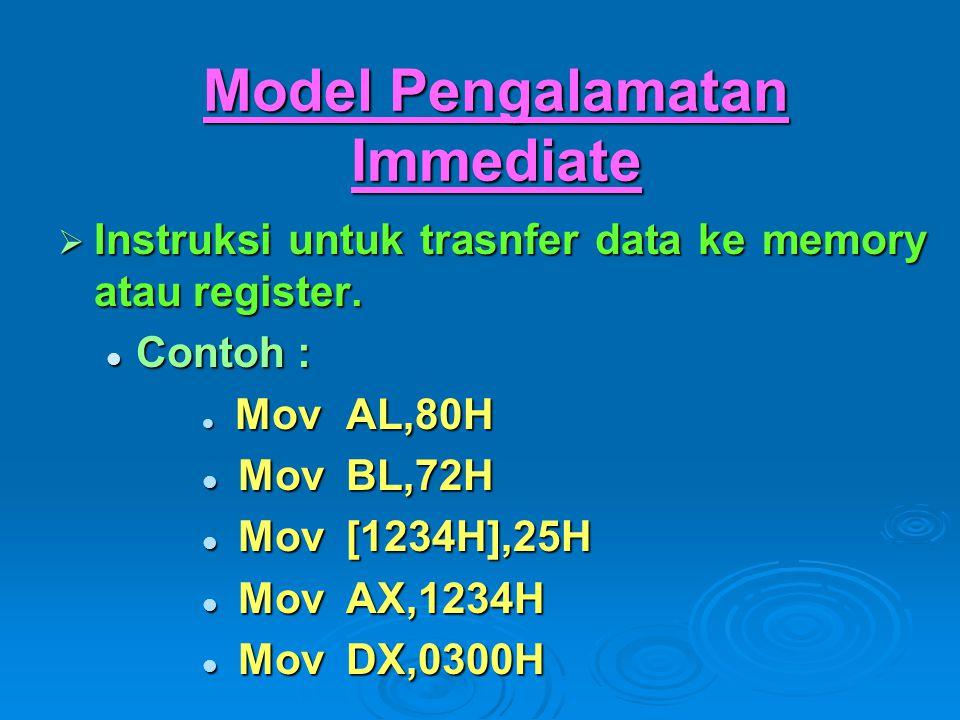 Model Pengalamatan Immediate