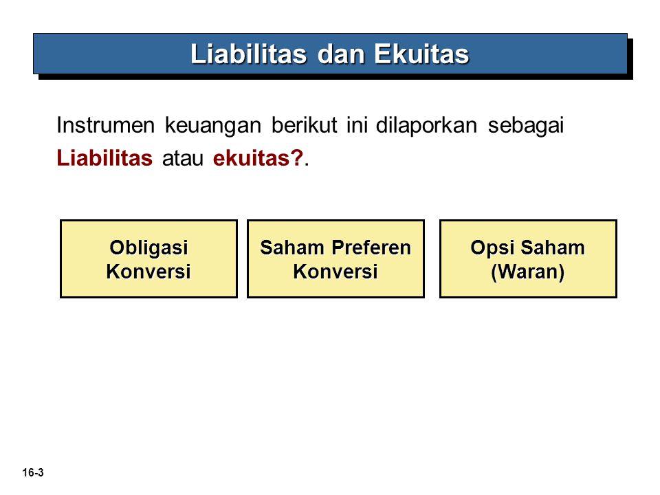Liabilitas dan Ekuitas Saham Preferen Konversi