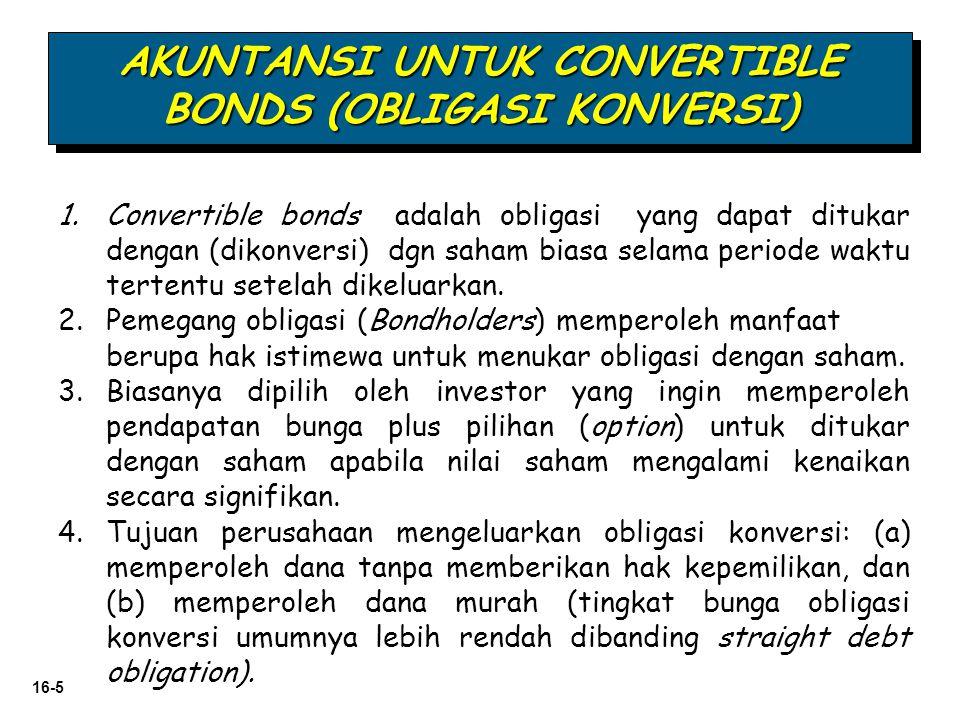 AKUNTANSI UNTUK CONVERTIBLE BONDS (OBLIGASI KONVERSI)