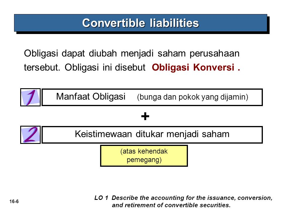 Convertible liabilities