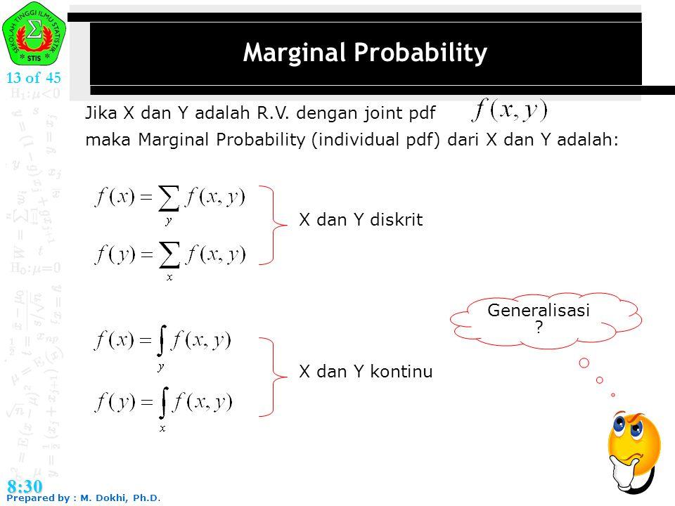 Marginal Probability 8:30 13 of 45
