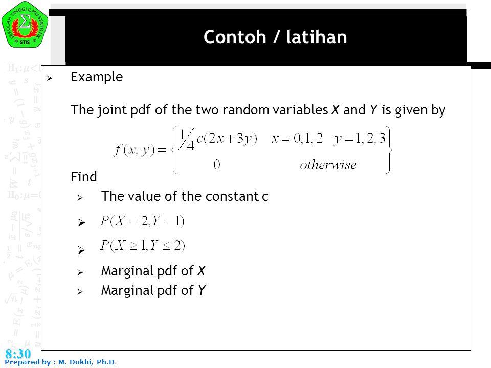 Contoh / latihan Example