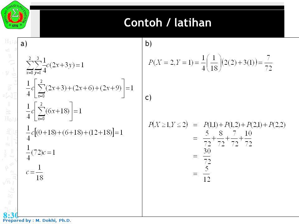 Contoh / latihan a) b) c) 8:30