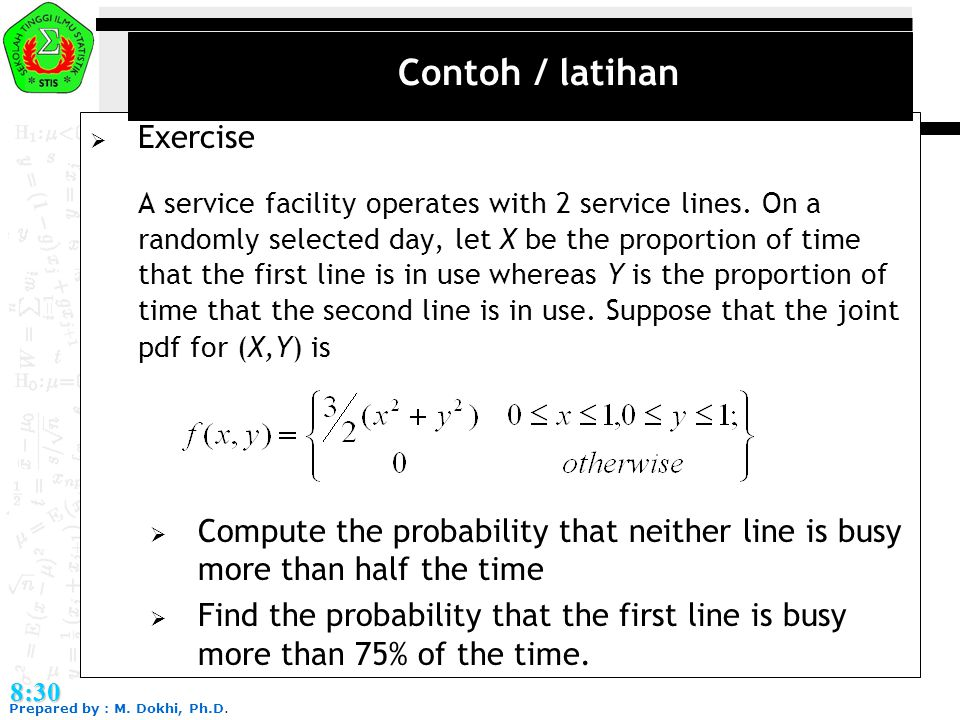 Contoh / latihan Exercise
