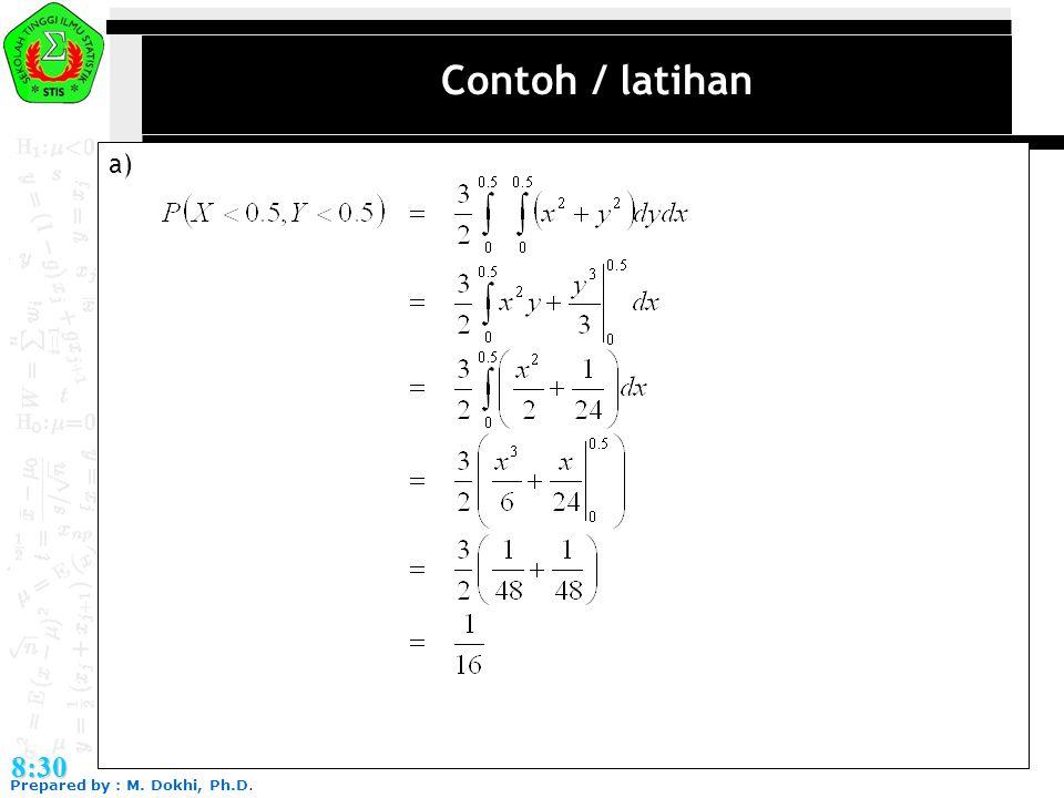 Contoh / latihan a) 8:30